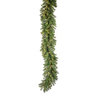 50-Ft. x 16-In. Pre-Lit Douglas Fir Garland with 400 Clear Lights