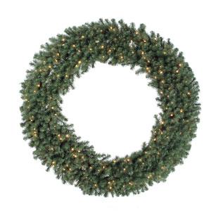 Douglas Fir 72-Inch Wreath w/200 Clear Dura-Lit Lights and 1100 Tips