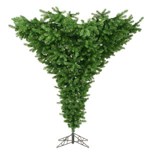 Green 7.5 Foot Upside Down Tree