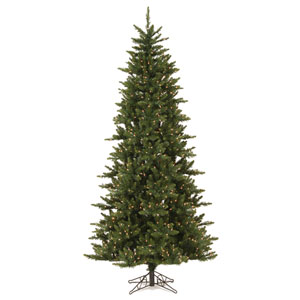 Camdon Fir 7.5 Ft. Slim Artificial Tree with 585 Warm White LED Lights