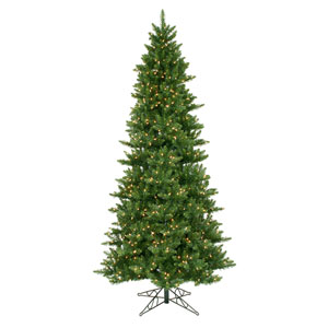 Camdon Fir 12-Foot Christmas Tree w/1800 Clear Dura-Lit Lights and 4018 Tips