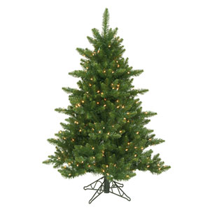 Camdon Fir 4.5-Foot Christmas Tree w/300 Clear Dura-Lit Lights and 566 Tips