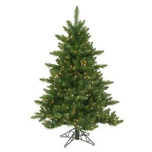 Camdon Fir Green 4.5 Foot x 37-Inch Christmas Tree with 300 Warm White LED Lights