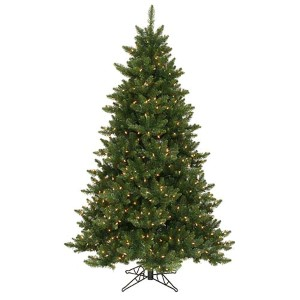 Camdon Fir Green 6.5 Foot x 49-Inch Christmas Tree with 600 Warm White LED Lights
