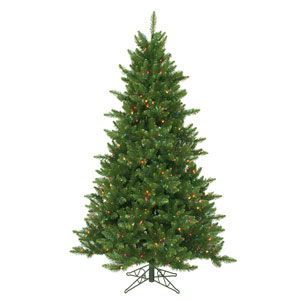 Green 6.5 Foot Camdon Fir LED Christmas Tree with 600 Multicolor Lights