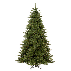 Camdon Fir 7.5-Foot Christmas Tree w/800 Clear Dura-Lit Lights and 1758 Tips