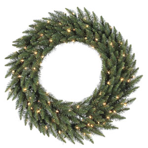Camdon Fir 36-Inch Wreath w/90 Frosted Warm White Wide Angle LED Lights and 230 Tips
