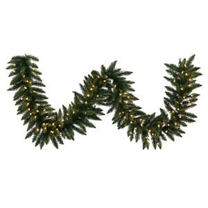 Green 50 Foot Camdon Fir LED Garland with 500 Warm White Lights