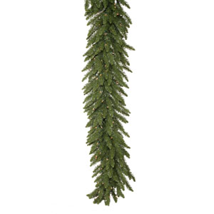 Camdon Fir 25-Foot Garland w/450 Clear Dura-Lit Lights and 900 Tips