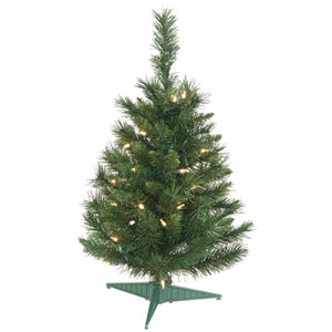 Green Imperial Pine Christmas Tree 2-foot