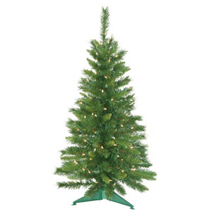 Imperial Pine 3.5-Foot Christmas Tree w/150 Clear Dura-Lit Lights and 173 Tips