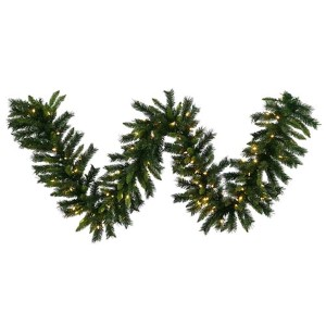 Green Imperial Pine 50 Foot x 16-Inch Garland with 400 Warm White LED Lights