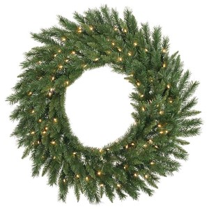Green Imperial Pine 48-Inch Wreath with 200 Warm White LED Lights