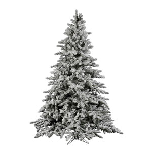 Flocked White on Green Utica Fir Christmas Tree 4.5-foot