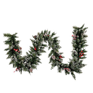 9 Ft. Snow Tip /Berry LED Garland