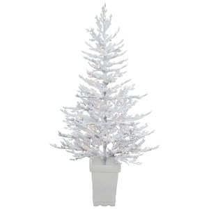 5 Ft. Flocked Winter Twig Tree