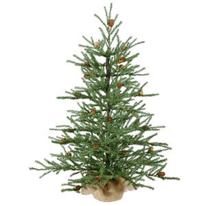 Green Carmel Pine Tabletop Tree 30-inch