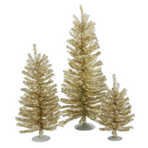 Champagne Mini Decor Tabletop Tree