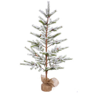 5 Ft. Flocked Desert Pine Tree