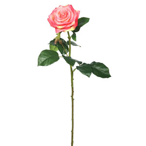 Real Touch Pink Rose, Set of Three