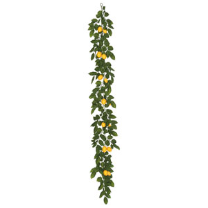 6 Ft. Green Salal Leaf and Yellow Lemon Garland