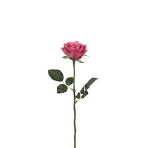 Dark Pink Rose Stem, Set of Six