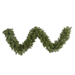 Grand Teton 9-Foot Garland w/100 Warm White Wide Angle LED Lights and 250 Tips