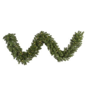 Green 50 Foot Grand Teton LED Garland with 600 Warm White Lights