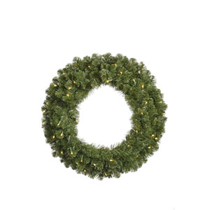 Grand Teton Wreaths 30-Inch Wreath w/50 Warm White Wide Angle LED Lights and 180 Tips