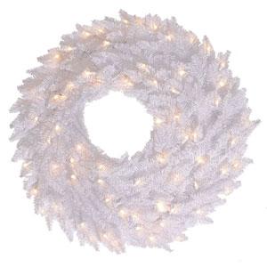 30 In. White Fir Wreath