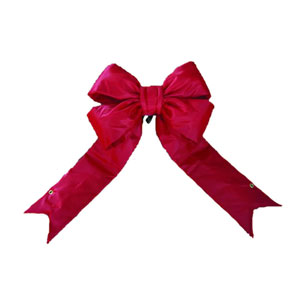 Red 9-Inch Nylon Outdoor Bow