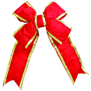 Red and Gold 9-Inch Nylon Outdoor Bow