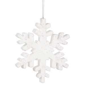 White Outdoor Glitter Snowflake