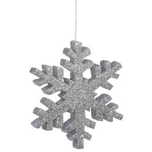 Silver Outdoor Glitter Snowflake