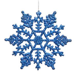 Blue Snowflake Ornament 4-inch