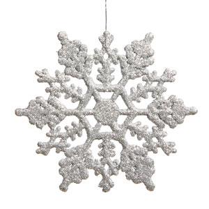 Silver Snowflake Ornament 4-inch