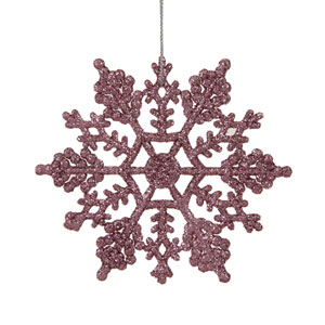 Pink Snowflake Ornament 4-inch