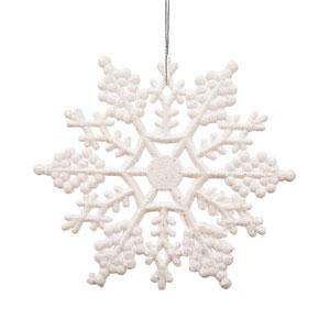 White Snowflake Ornament 6.25-inch