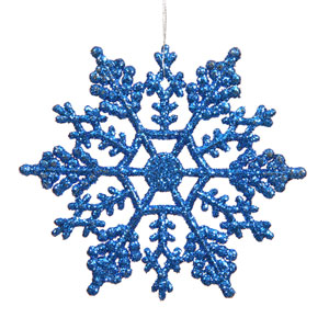 Blue Snowflake Ornament 6.25-inch