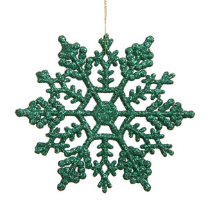 Green Snowflake Ornament 6.25-inch