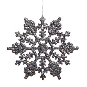 Pewter Snowflake Ornament 6.25-inch