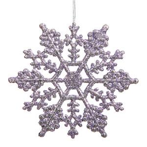 Lavender Snowflake Ornament 6.25-inch