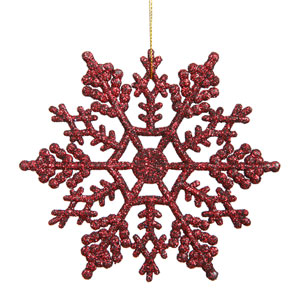 Burgundy Snowflake Ornament 8-inch