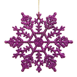 Purple Snowflake Ornament 8-inch