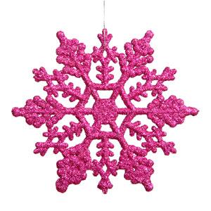 Magenta Snowflake Ornament 8-inch