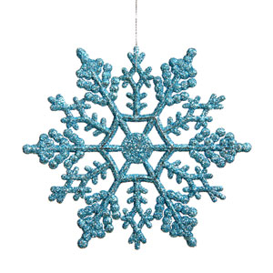 Turquoise Snowflake Ornament 8-inch