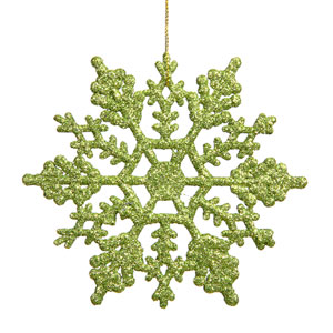 Lime Snowflake Ornament 8-inch
