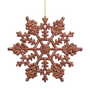 Mocha Snowflake Ornament 8-inch