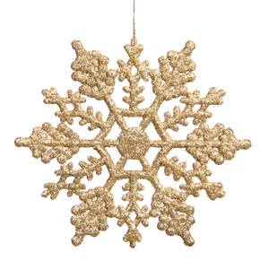 Antique Gold Snowflake Ornament 8-inch
