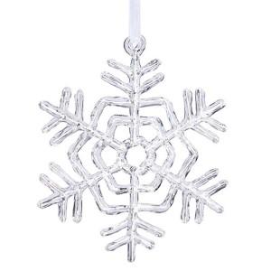 Clear 5-Inch Acrylic Snowflake Ornament
